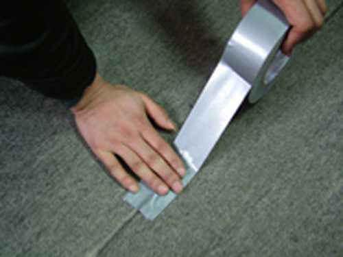 贴地毯用银灰布基胶带