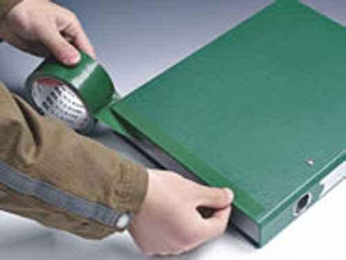绿色布基胶带运用图片