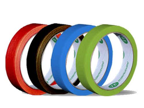 不同颜色的彩色美纹纸胶带分类